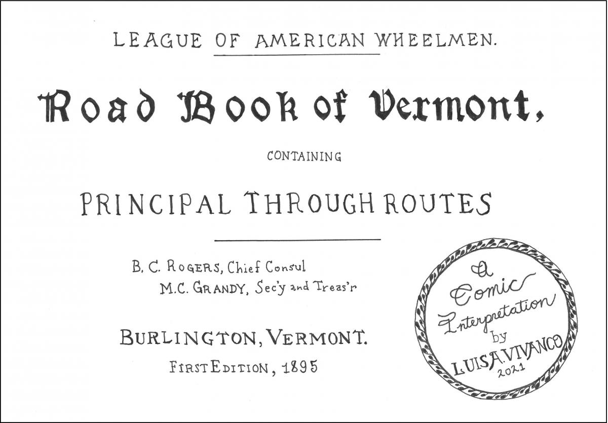 "Cover of comic ""Road Book of Vermont"""